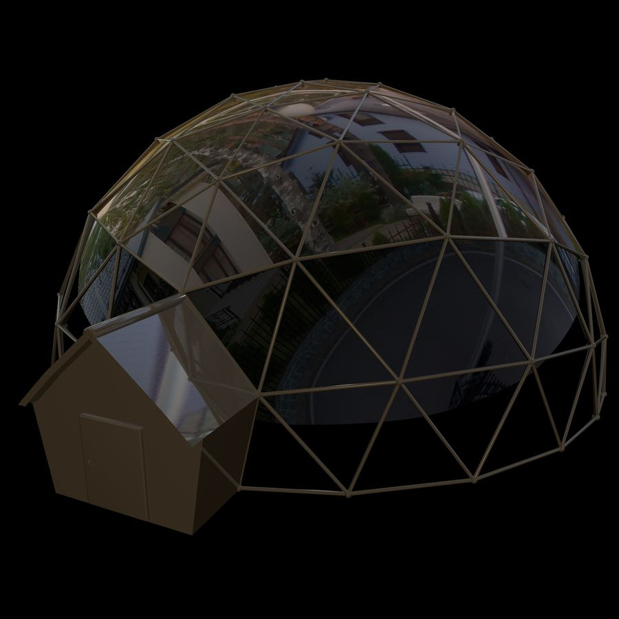 Geodesic House royalty-free 3d model - Preview no. 8