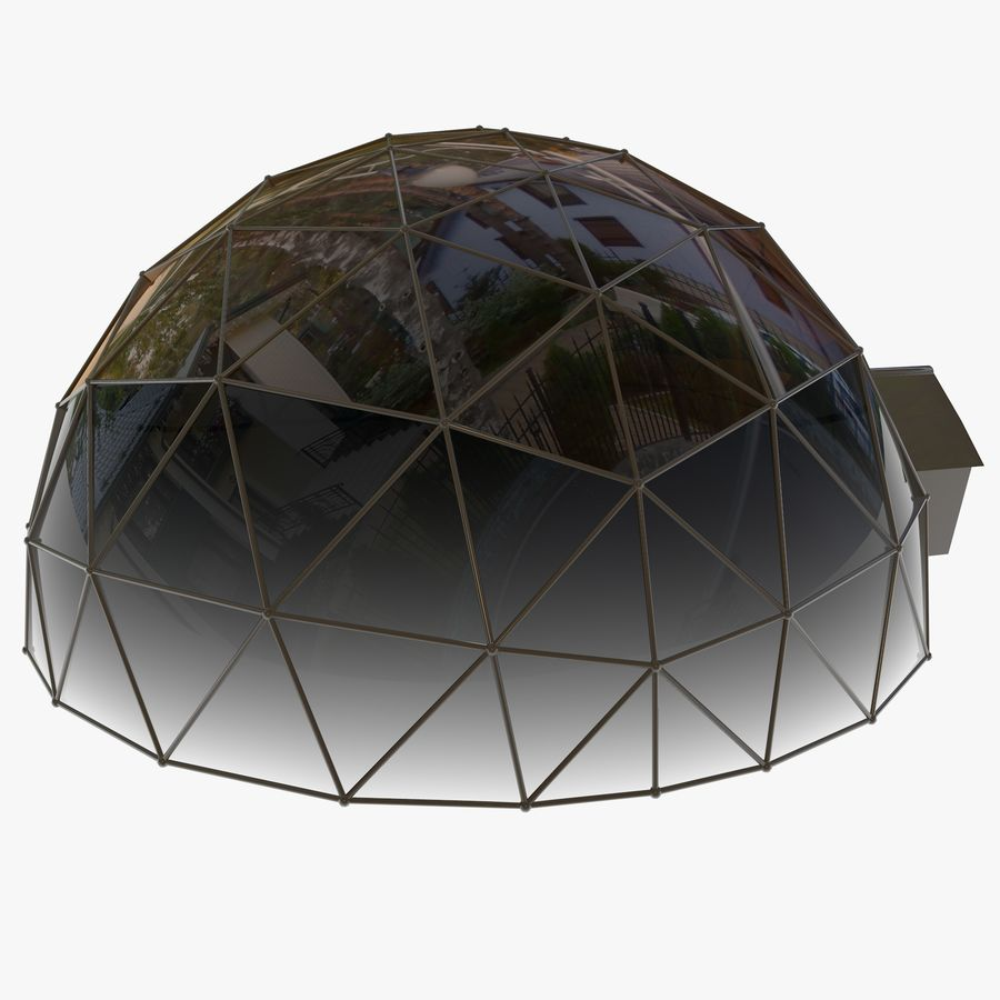 Geodesic House royalty-free 3d model - Preview no. 4