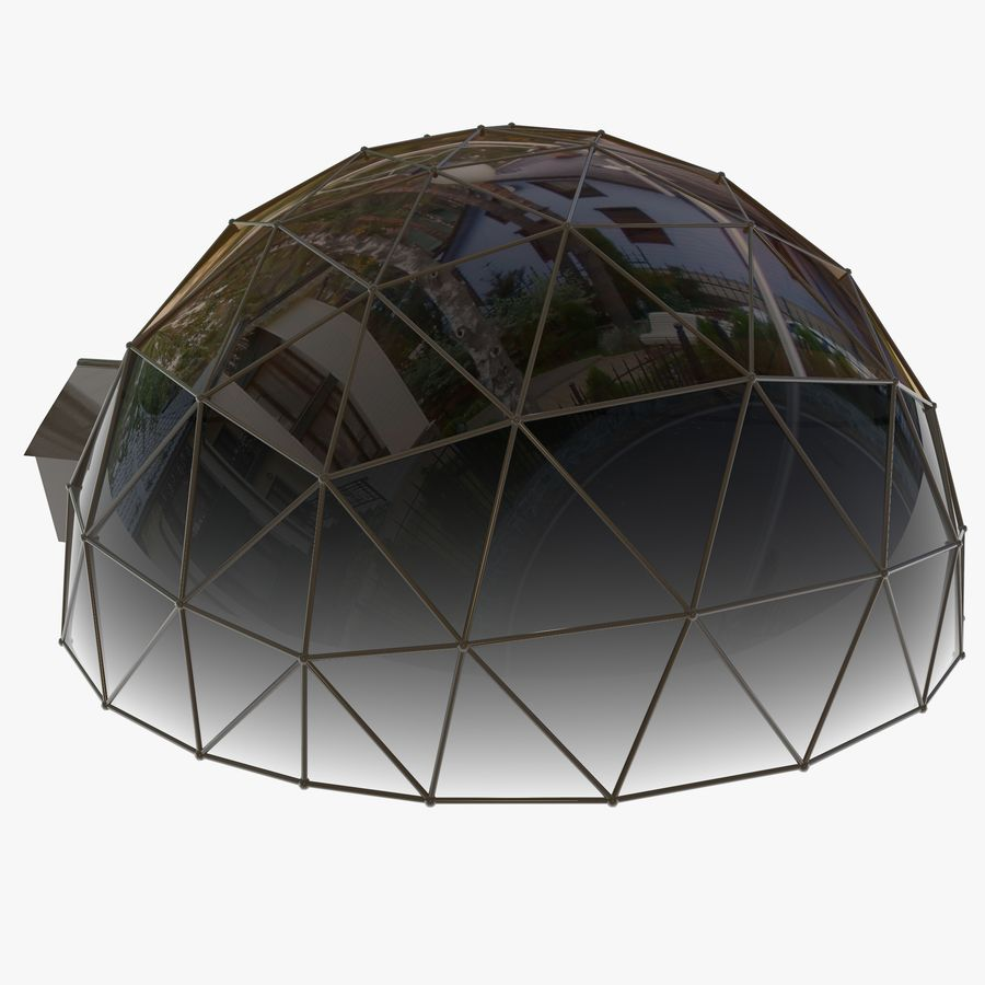 Geodesic House royalty-free 3d model - Preview no. 6