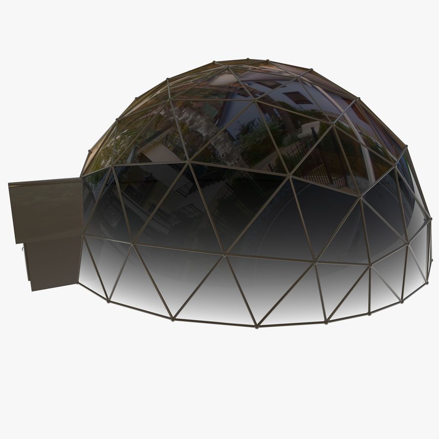 Geodesic House royalty-free 3d model - Preview no. 7