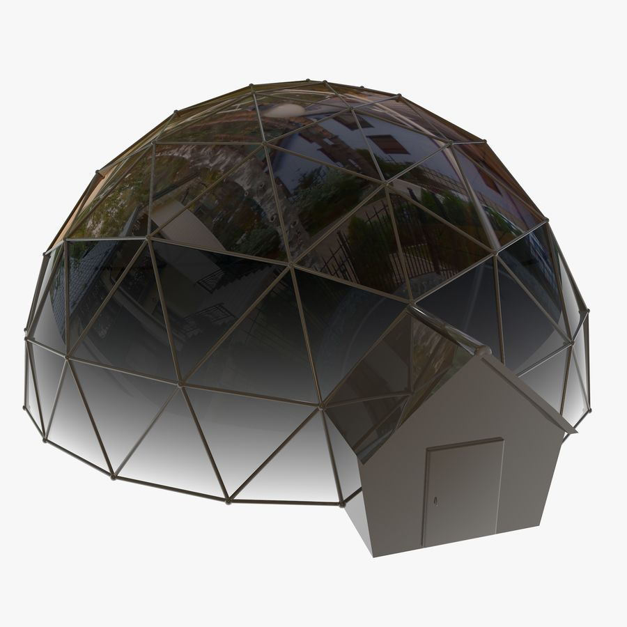 Geodesic House royalty-free 3d model - Preview no. 2