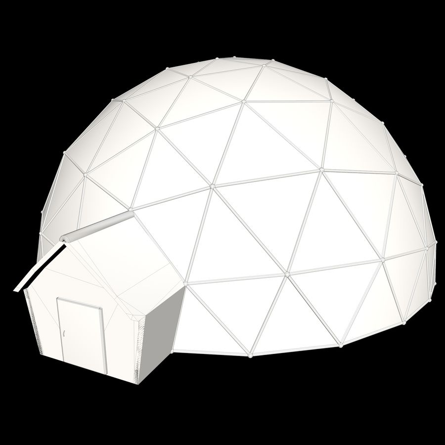 Geodesic House royalty-free 3d model - Preview no. 9