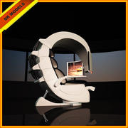 Chaise de jeu Hitech - Station de travail moderne 3d model