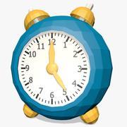 만화 시계 낮은 폴리 (2) 3d model