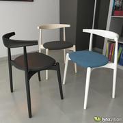 CH20 Elbow Chair by Hans Wegner 3d model