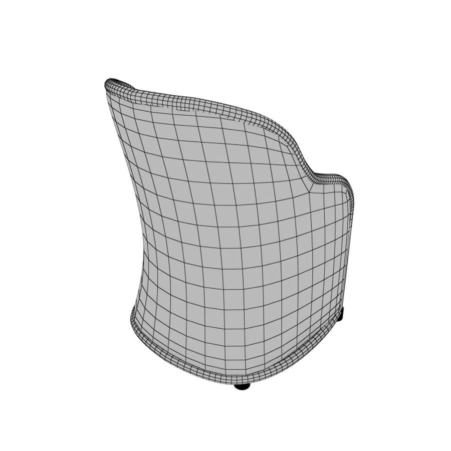 Poltrona de vime royalty-free 3d model - Preview no. 3