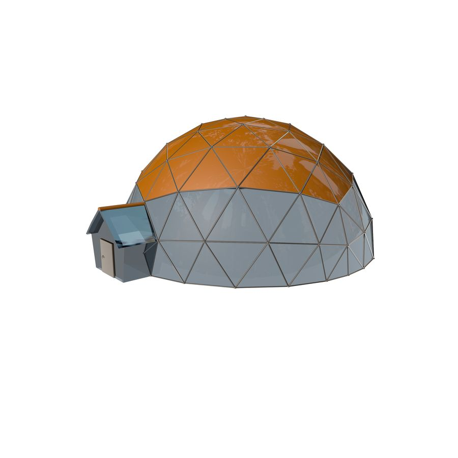 Geodesic Houses royalty-free 3d model - Preview no. 3