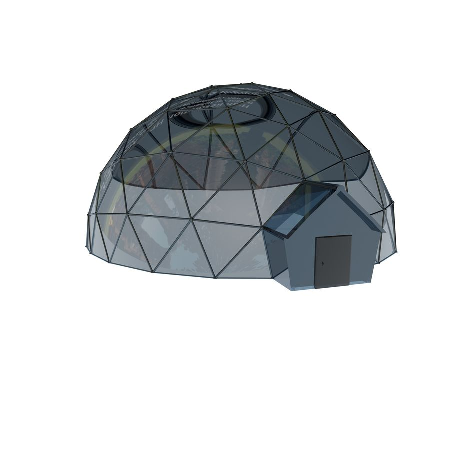 Geodesic Houses royalty-free 3d model - Preview no. 2