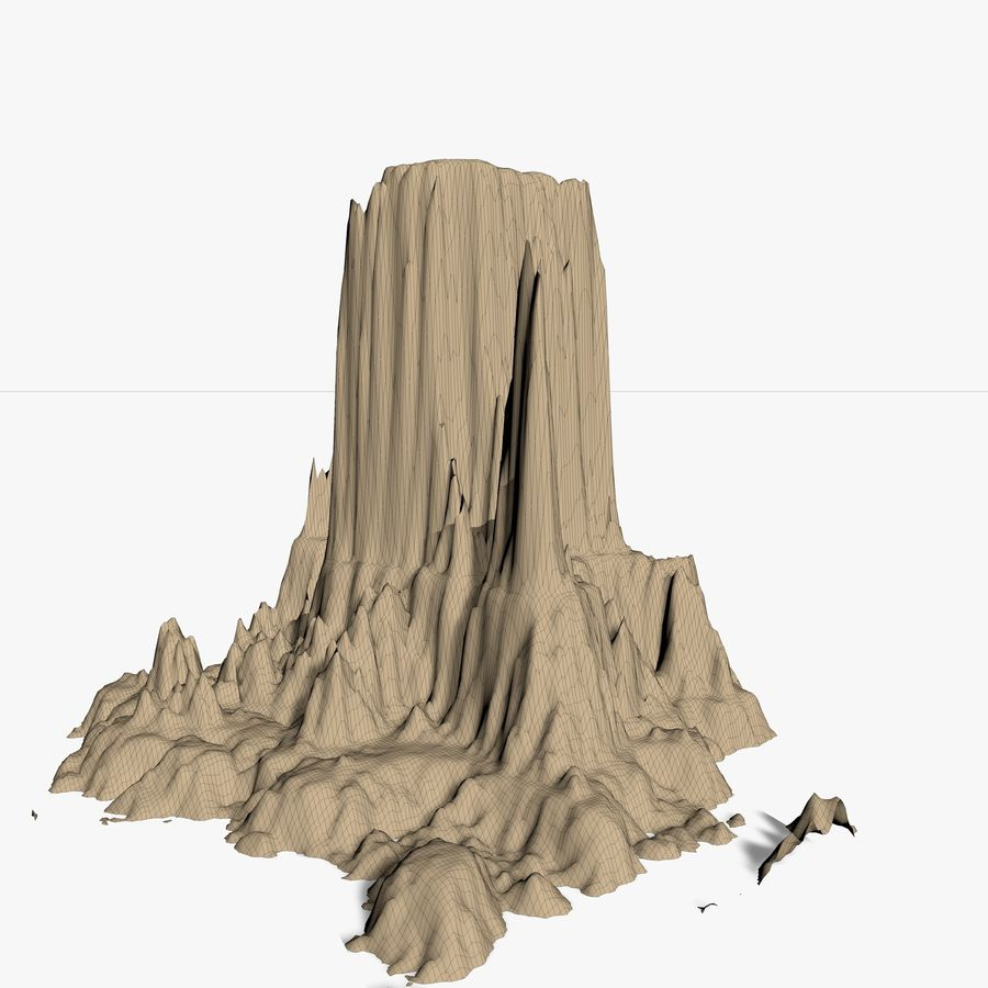 Mountain royalty-free 3d model - Preview no. 9