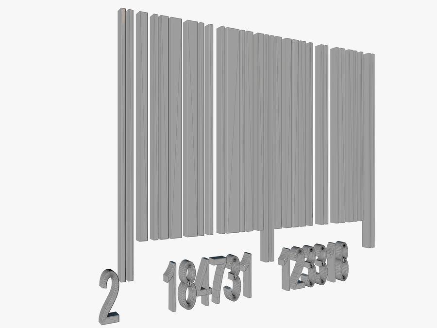 Kod kreskowy royalty-free 3d model - Preview no. 8