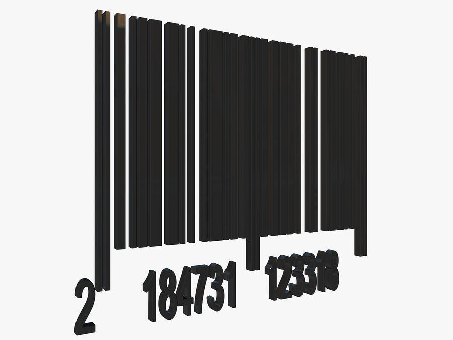 Kod kreskowy royalty-free 3d model - Preview no. 4