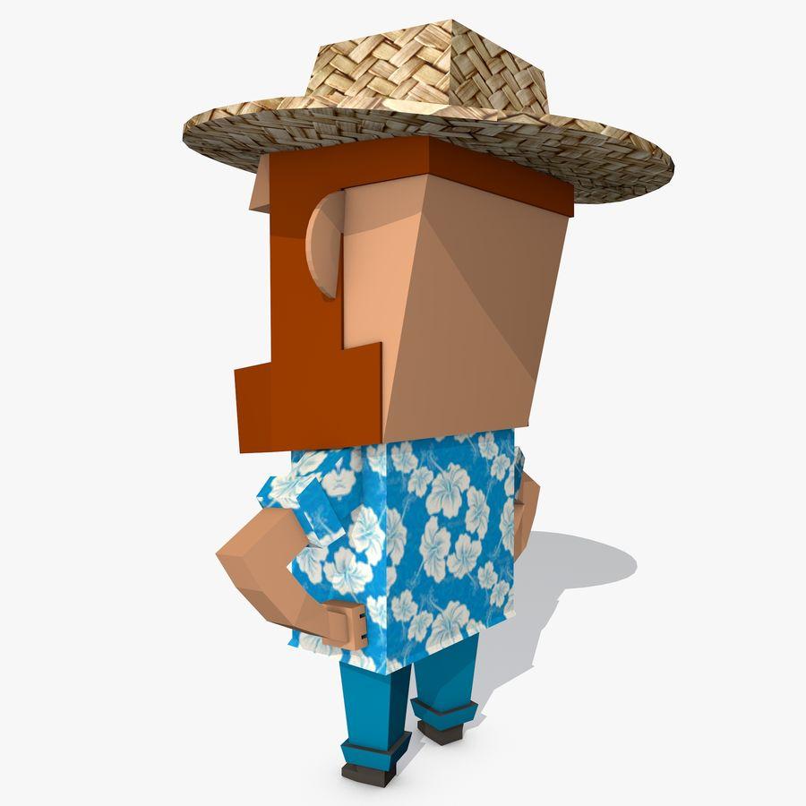 Мультипликационный персонаж низкополигональная royalty-free 3d model - Preview no. 5