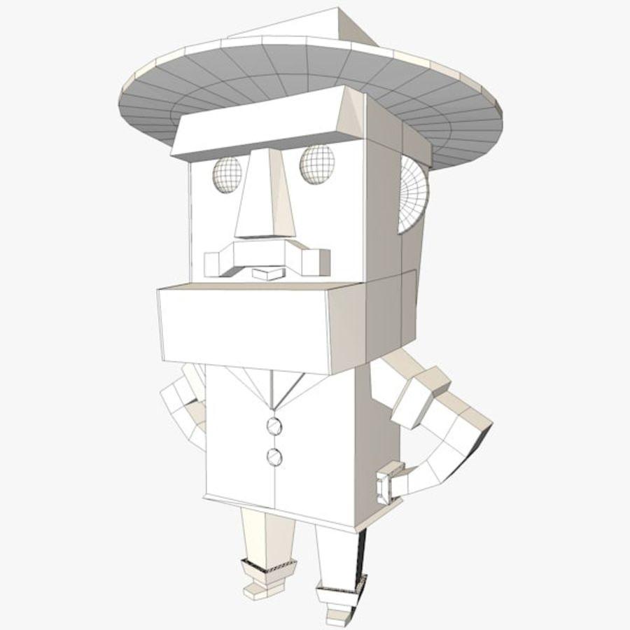 Мультипликационный персонаж низкополигональная royalty-free 3d model - Preview no. 7