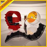 Коллекция высокотехнологичных стульев - Ball Chair, Comfy Workstation и GameChair 3d model