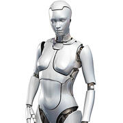 Female Cyborg Robot 3d model