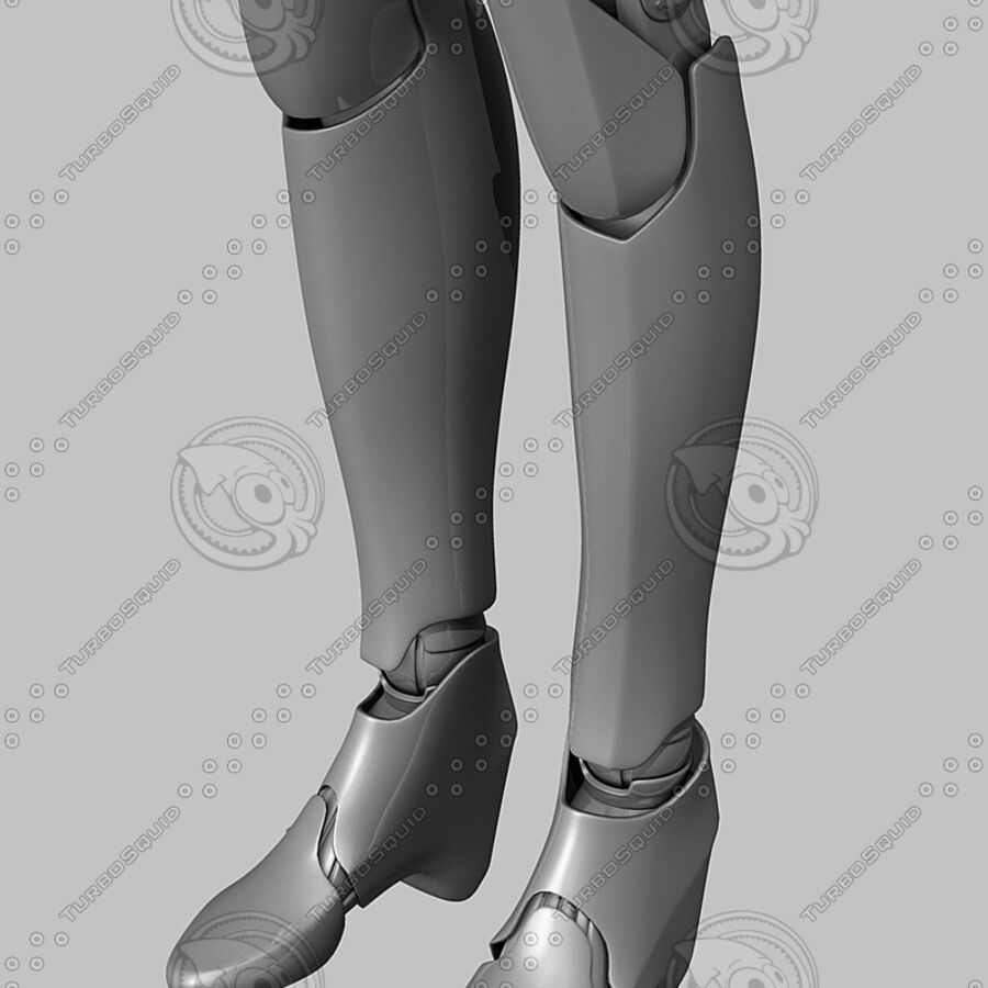 Female Cyborg Robot royalty-free 3d model - Preview no. 16