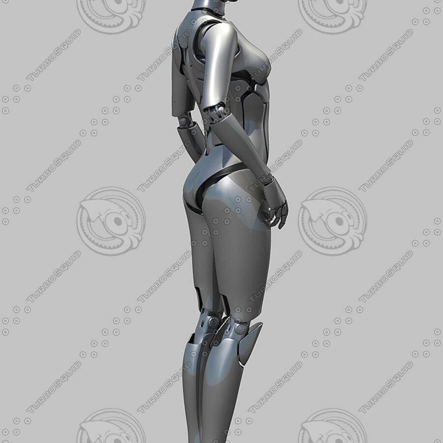 Female Cyborg Robot royalty-free 3d model - Preview no. 6