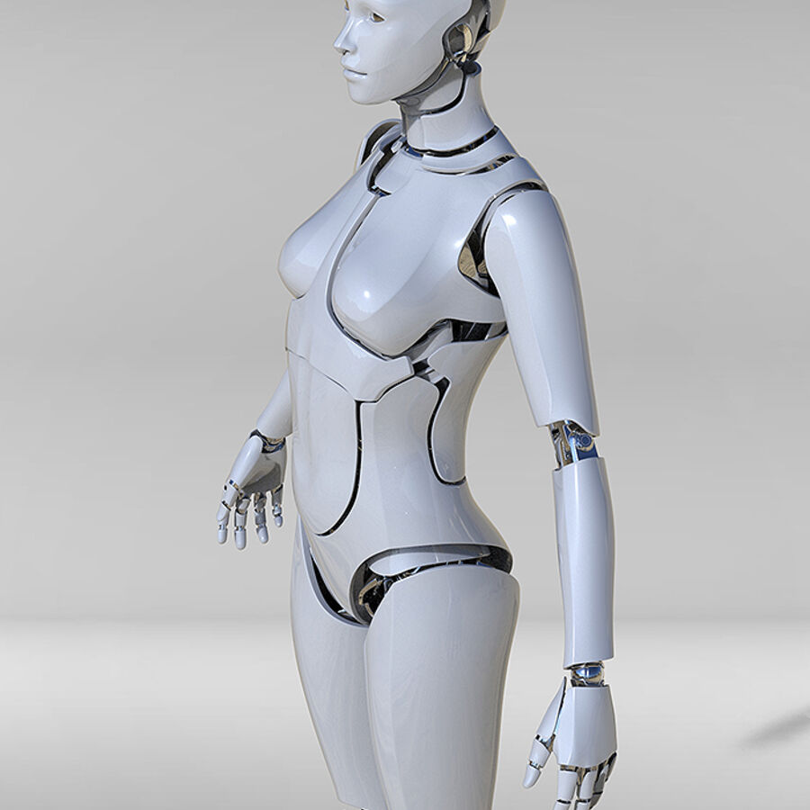 Female Cyborg Robot royalty-free 3d model - Preview no. 4