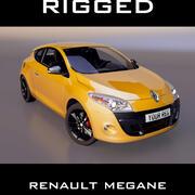 renault megane купе 3d model