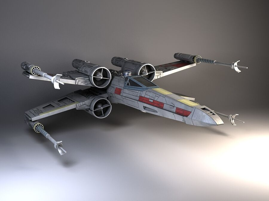 Star Wars X-Wing Fighter royalty-free 3d model - Preview no. 1