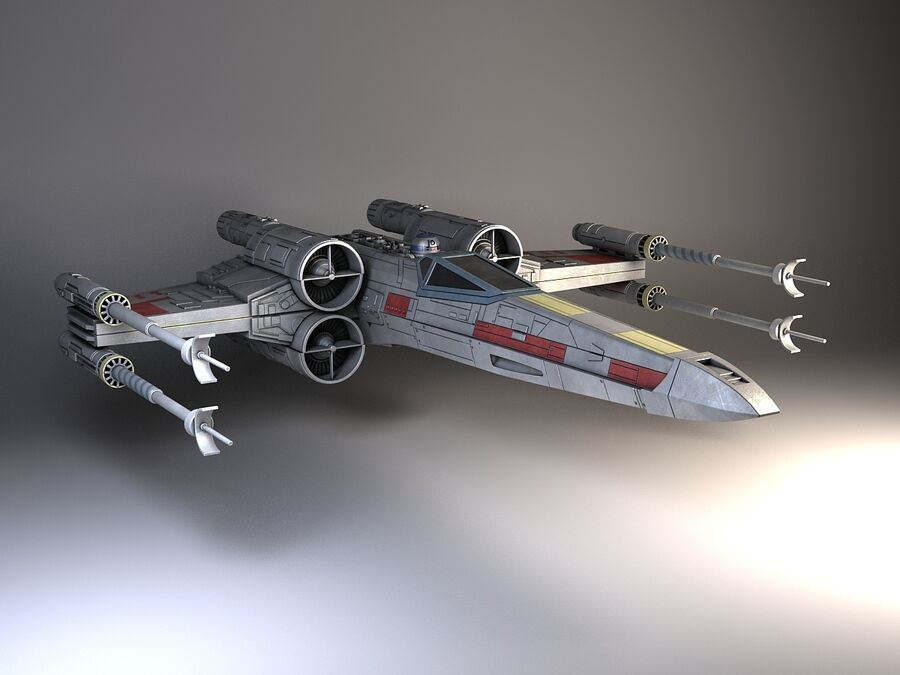Star Wars X-Wing Fighter royalty-free 3d model - Preview no. 2