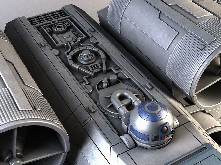 Star Wars X-Wing Fighter royalty-free 3d model - Preview no. 8