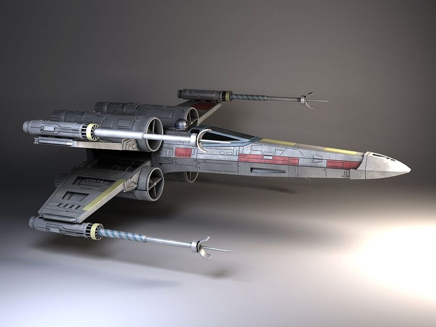 Star Wars X-Wing Fighter royalty-free 3d model - Preview no. 7