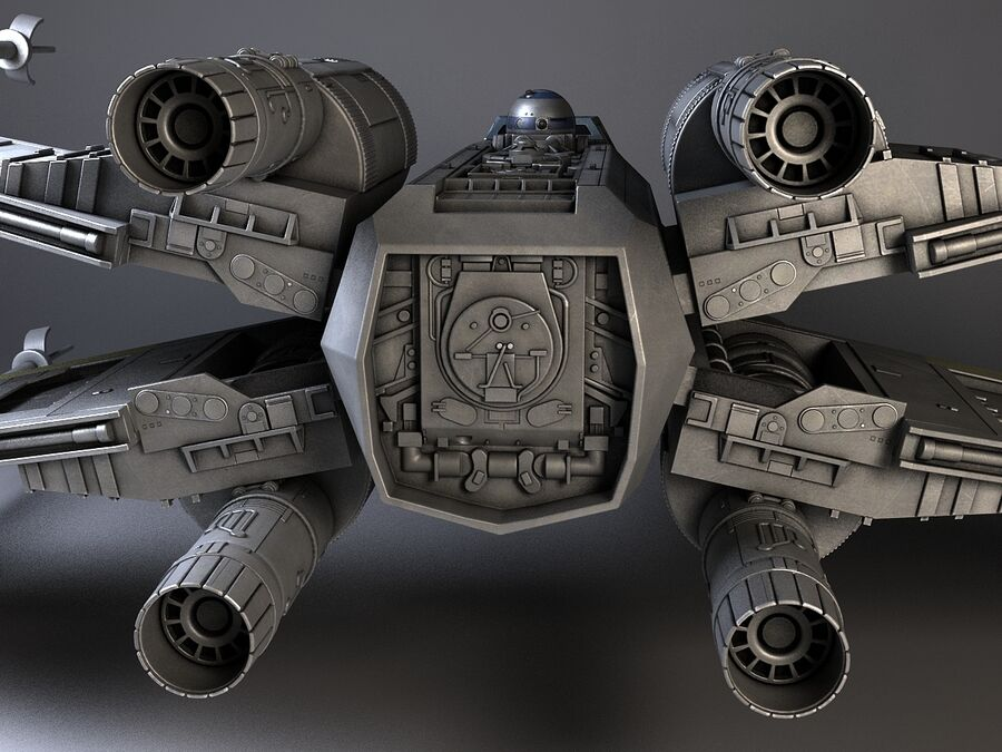 Star Wars X-Wing Fighter royalty-free 3d model - Preview no. 6