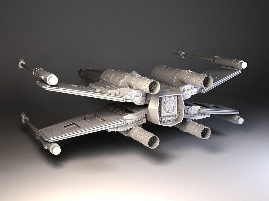 Star Wars X-Wing Fighter royalty-free 3d model - Preview no. 10