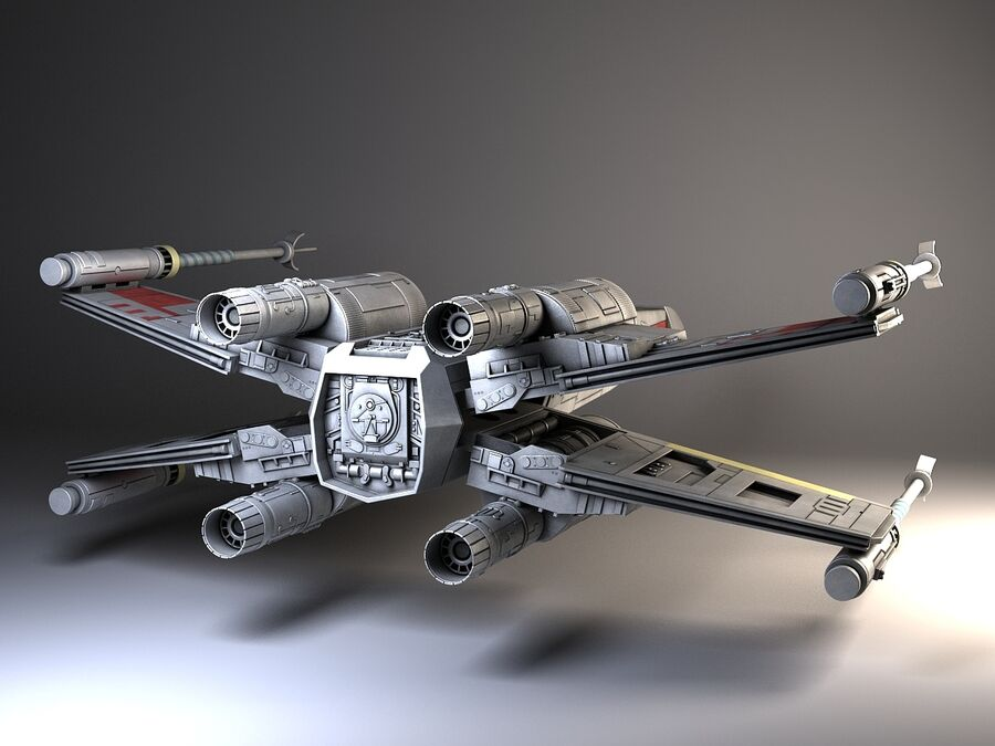 Star Wars X-Wing Fighter royalty-free 3d model - Preview no. 3