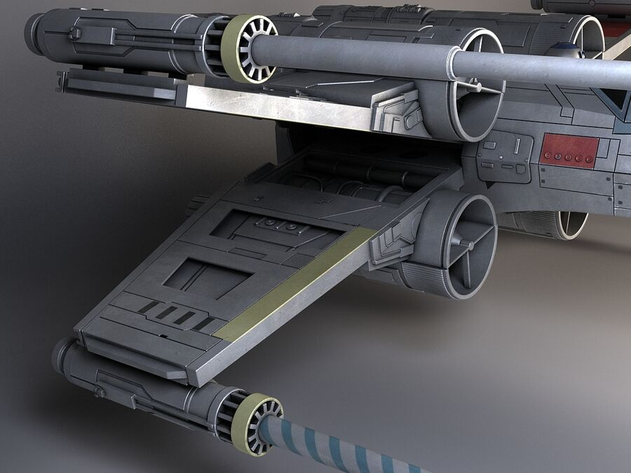 Star Wars X-Wing Fighter royalty-free 3d model - Preview no. 4