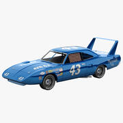 Nascar Car Plymouth Superbird 3d model