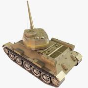 T34-85 저 폴리 3d model