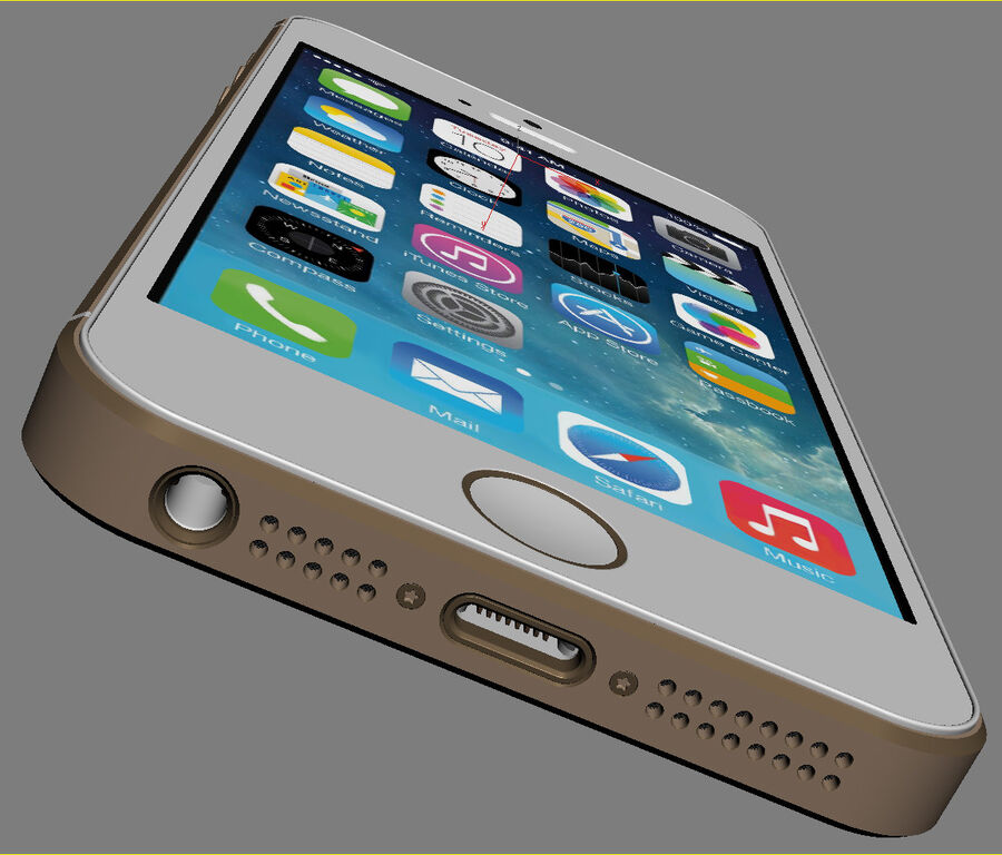 Apple Electronics Collection 2014 v1 royalty-free 3d model - Preview no. 31