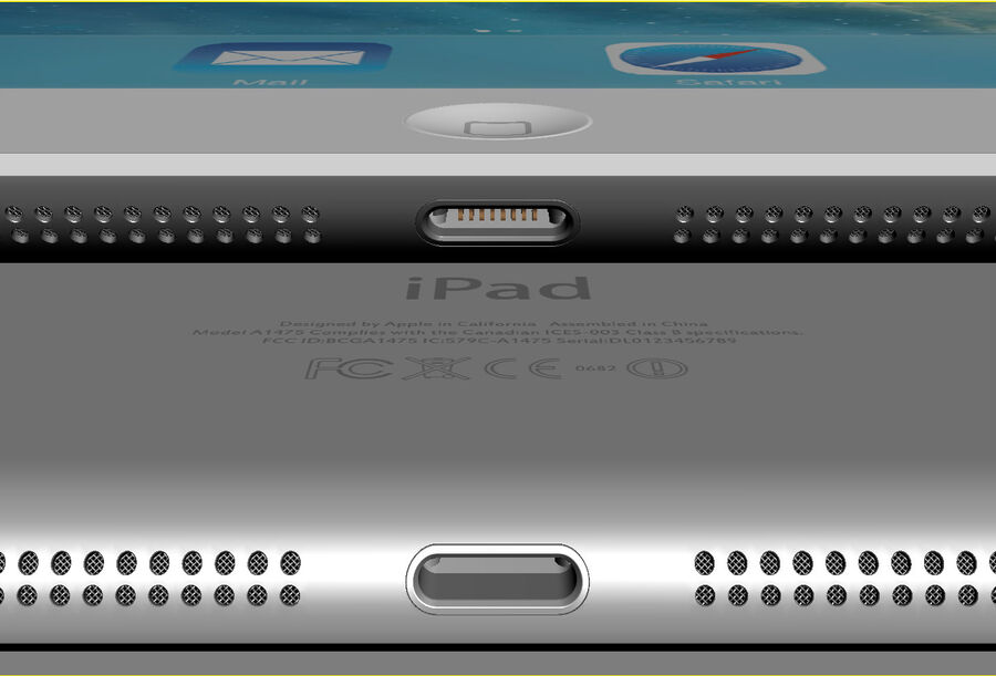 Apple Electronics Collection 2014 v1 royalty-free 3d model - Preview no. 59