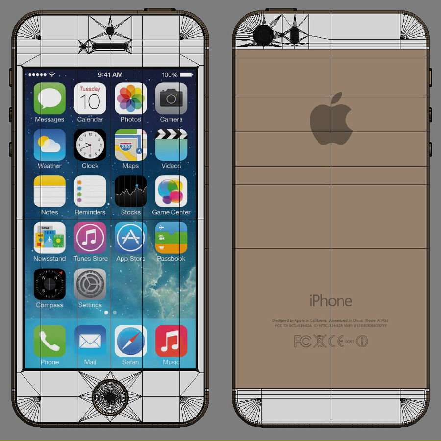 Apple Electronics Collection 2014 v1 royalty-free 3d model - Preview no. 25