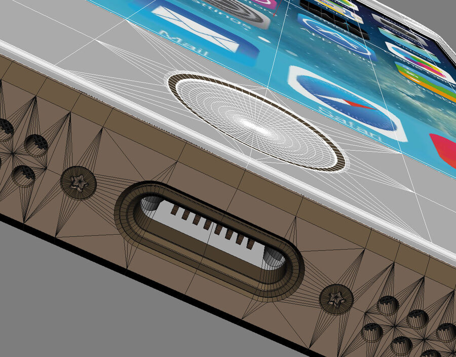 Apple Electronics Collection 2014 v1 royalty-free 3d model - Preview no. 34