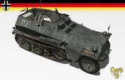 sdkfz 250 halftrack 3d model