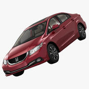 Honda Civic 4D Elegance 2013 3d model