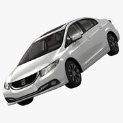 Honda Civic 4D Executive 2013 3d model