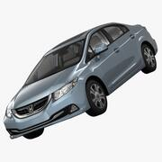 Honda Civic 4D Hibrit 2013 3d model