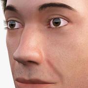 Mannelijk hoofd 3d model
