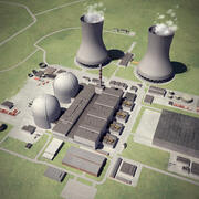 Nuclear Power Station 3d model