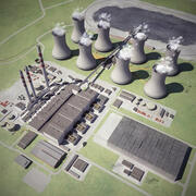 Coal-Fired Thermal Power Station 3d model