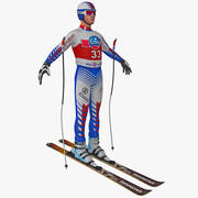 Downhill Skier 3d model