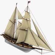 Goleta Halcon Velero modelo 3d
