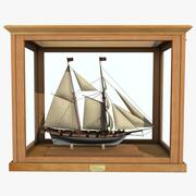 查瑟尔帆船帆船 3d model