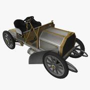 1901年的35马力奔驰 3d model