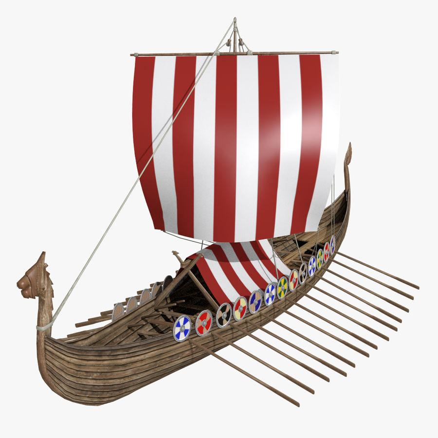 Drakkar, Viking Ship royalty-free 3d model - Preview no. 1