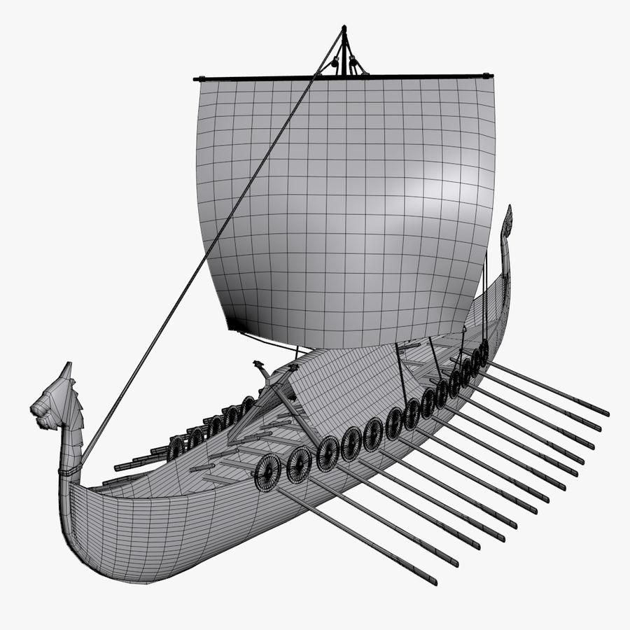Drakkar, Viking Ship royalty-free 3d model - Preview no. 13